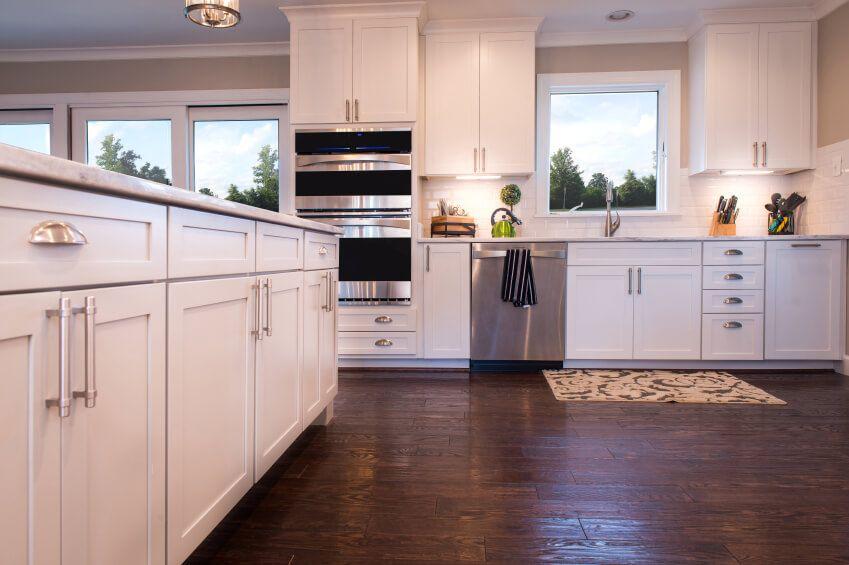 425 White Kitchen Ideas for 2017 Open plan kitchen Dark wood