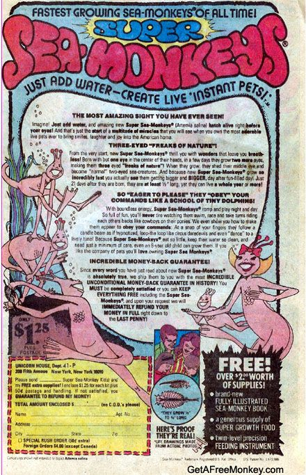 Account Suspended Book Advertising Sea Monkeys My Childhood