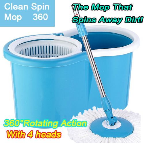 Magic Mop Double Automatic Rotating Mop Plastic Basket