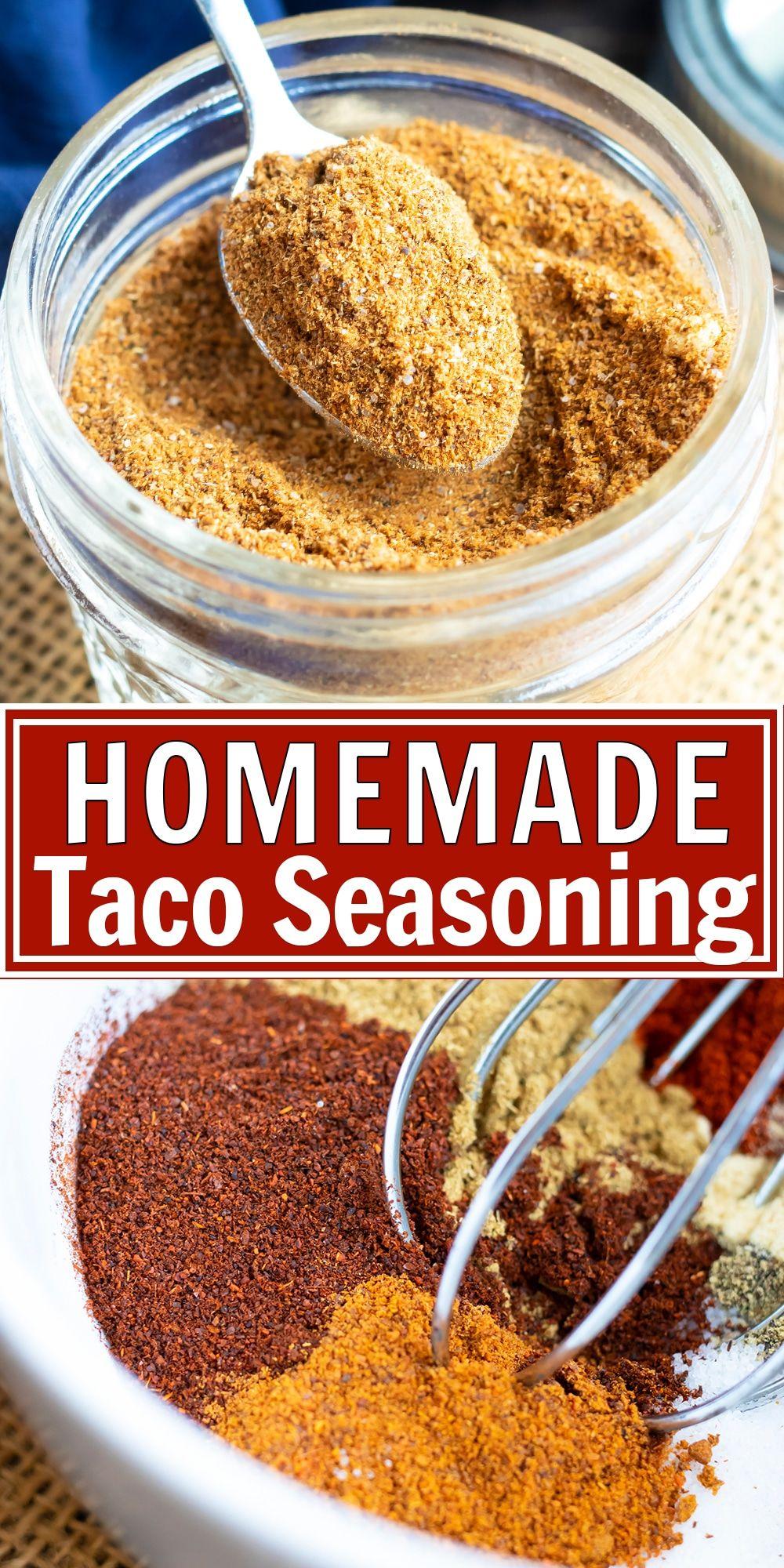 Homemade Taco Seasoning Recipe Taco seasoning, Whole30