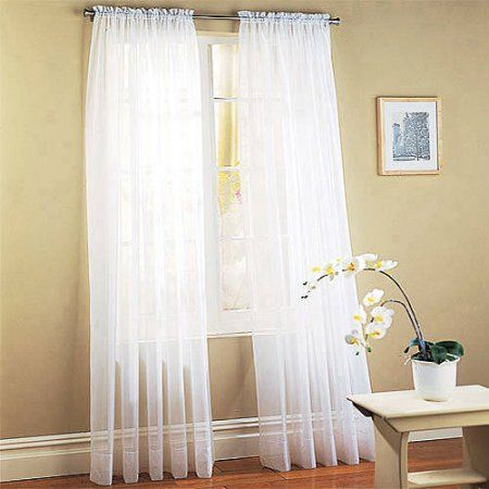Home White Paneling Window Treatments Sheer Sheer Window Panels