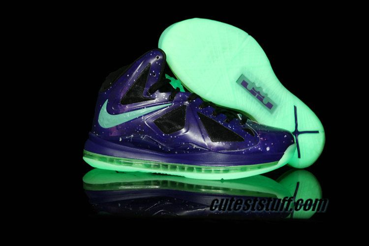 New Lebron Shoes 2013 X 10 Galaxy Glow in the Dark 541100 001 $66.99