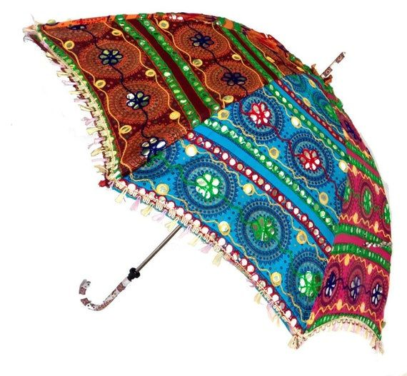 Indian Patchwork Handmade Umbrella Sun Protection Woman
