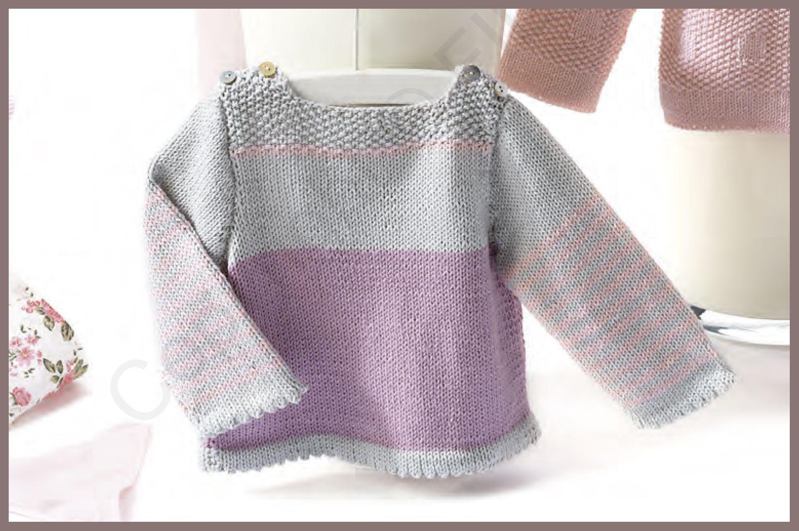 Patrón jersey niño primavera verano. Fil Katia | tutoriales cuellos ...