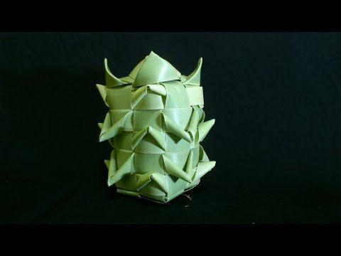 Cara Membuat Ketupat Nanas Dari Daun Lontar Part 1 Kelapa