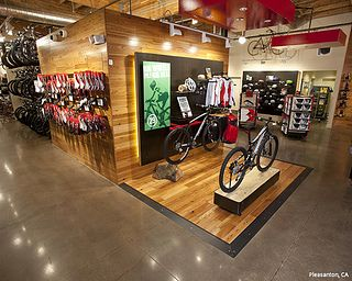 Mike S Bikes Arcsine Architecture Commercial Bike Display Wood Commercial Design Bike Shed Bicycle Shop