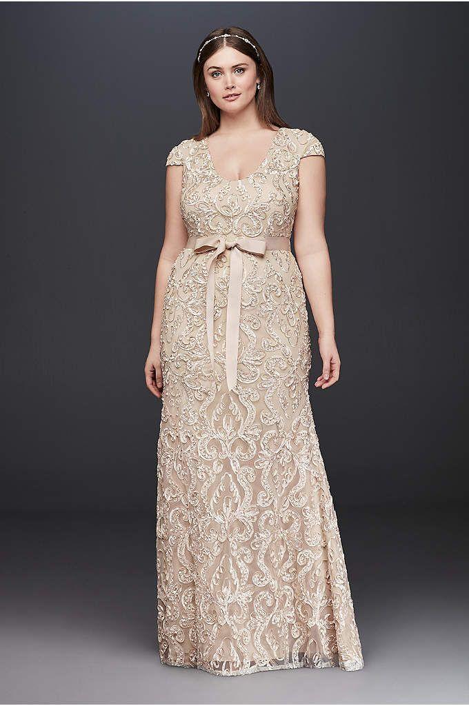 Lace Lace Champagne Bridesmaid Dresses Plus Size