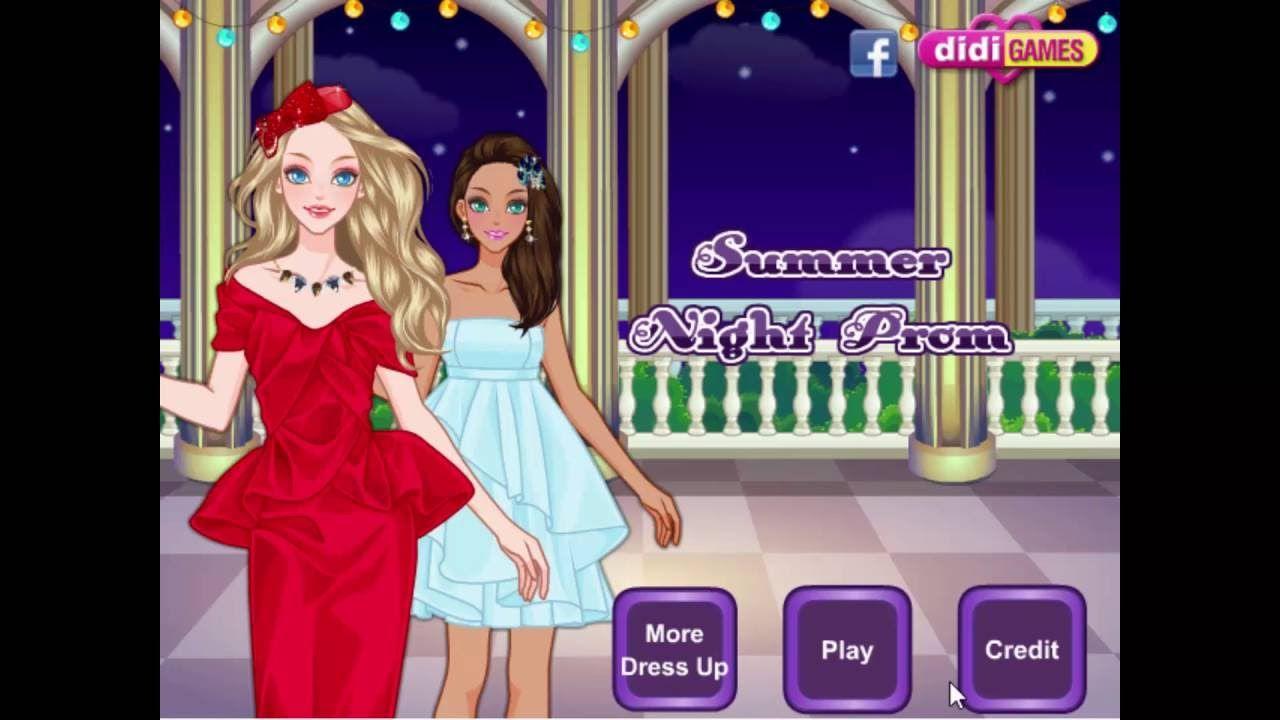 Barbie Game Summer Night Prom Online Games For Kids Barbie