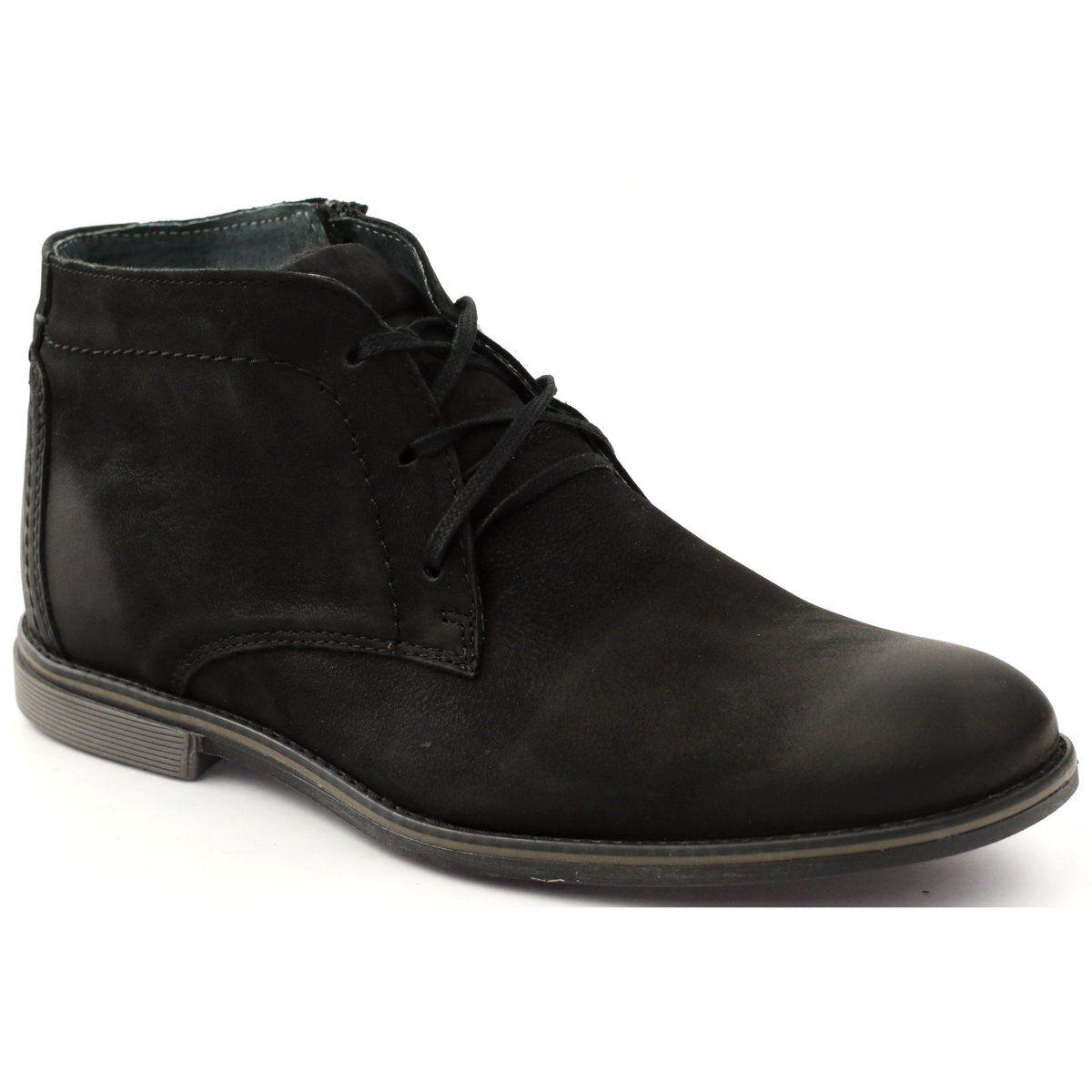 Botki Sztyblety Na Suwak Riko 817 Czarne Chukka Boots Boots Shoes
