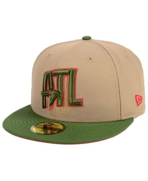 buy popular d0810 410ac New Era Atlanta Hawks Fall 2 Tone Combo 59FIFTY-fitted Cap - Tan Beige 7 1 8