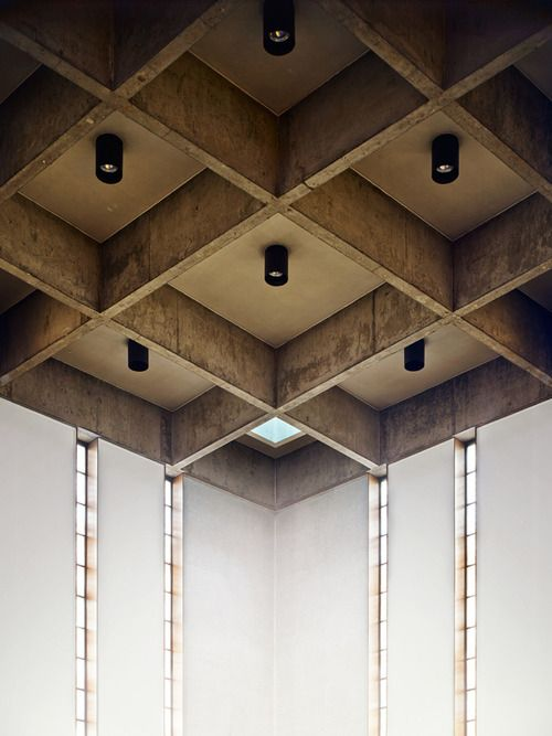 Brutalist V Nick Rochowski Photography Interior Ceiling Design Coffered Ceiling Waffle Ceiling