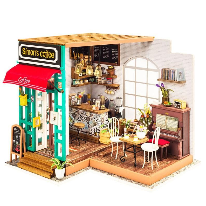 Simon's Coffee DIY house kit miniature art craft in 2020