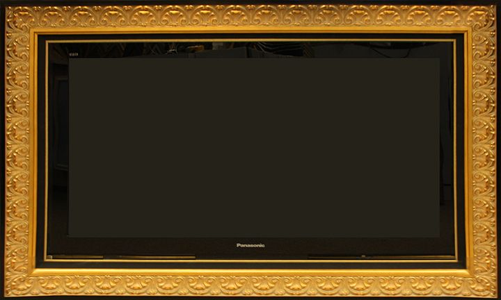 custom framed led tv