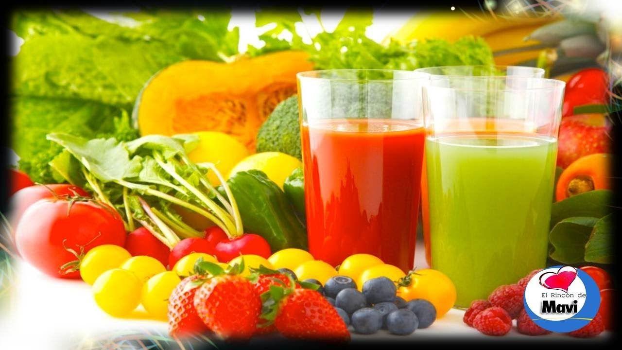 Jugos de frutas y verduras naturales para bajar de peso