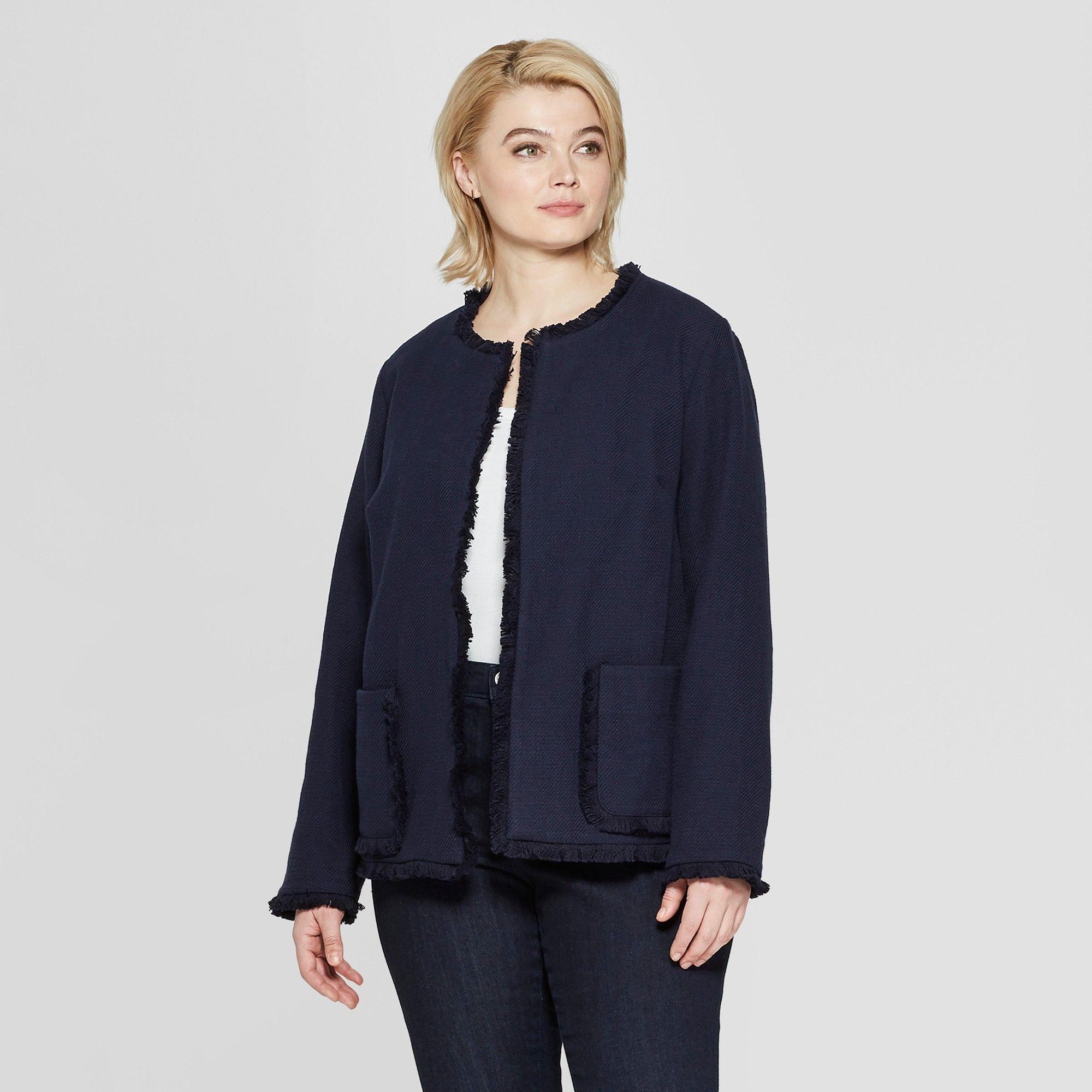 plus size women's tweed jacket