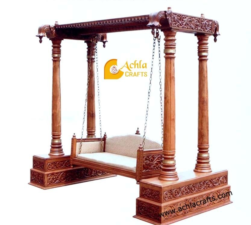 Jhula Teak Wood Swing Jodhpur Handicrafts