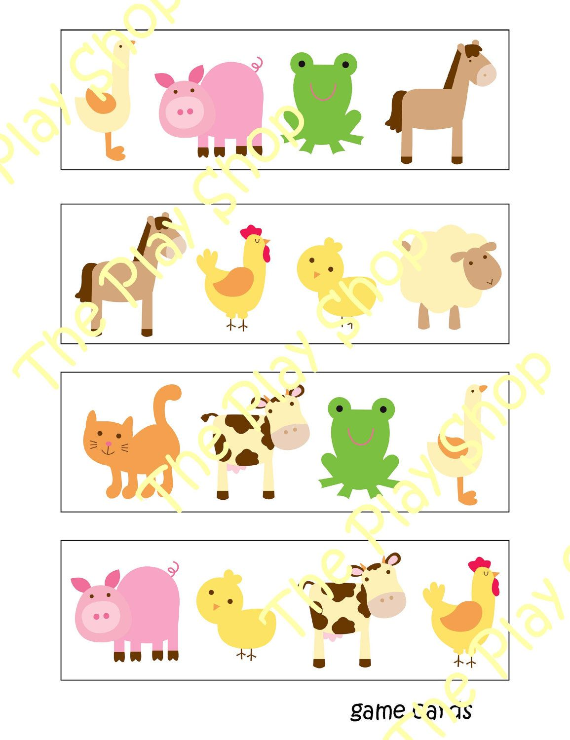Preschool Farm Animal Bingo Game I Could Totally Make This