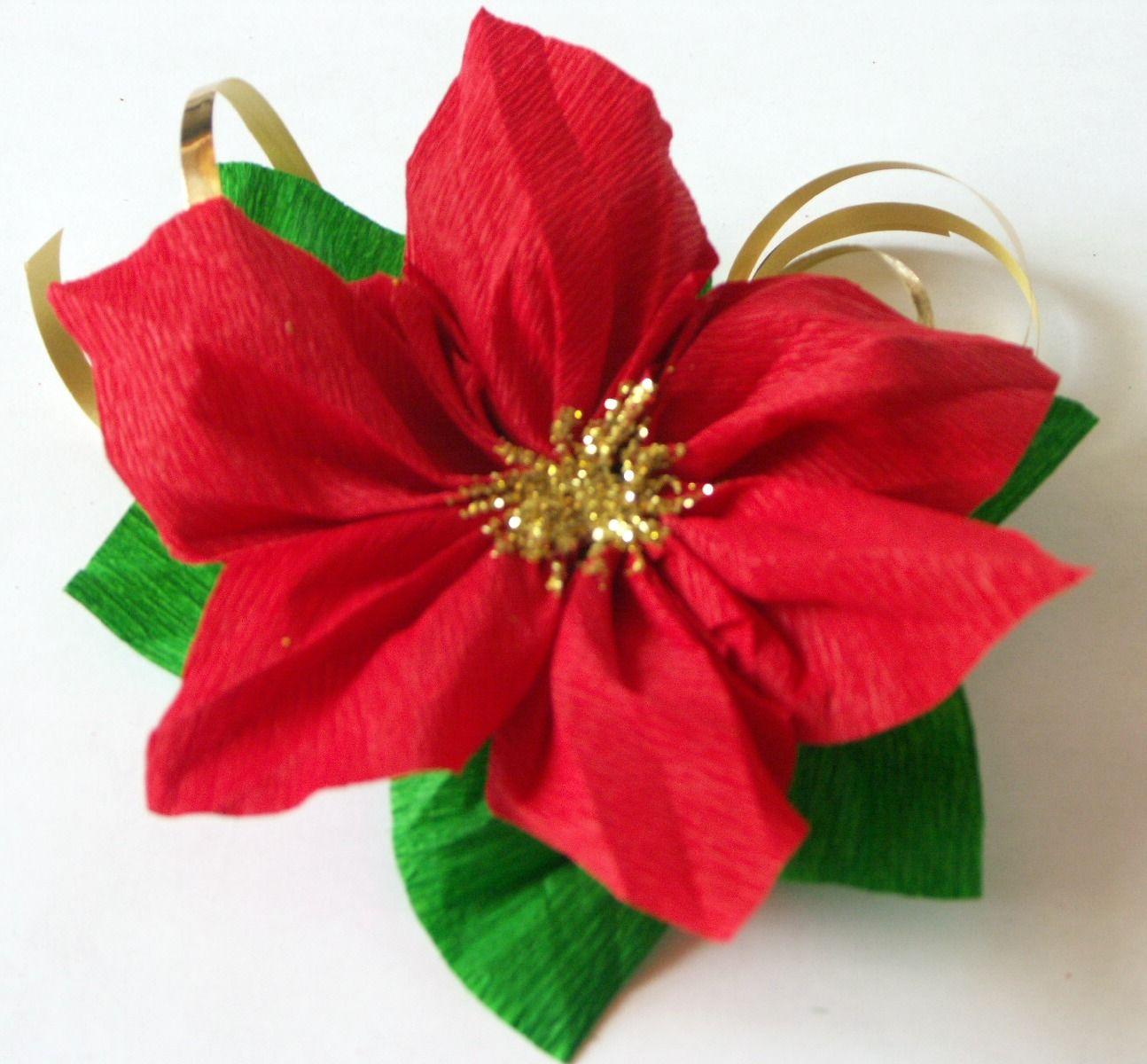 Stelle Di Natale Da Costruire tutorial decorazione con stella di natale in carta crespa