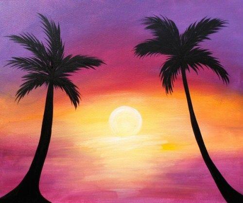 Palm Trees 500x418