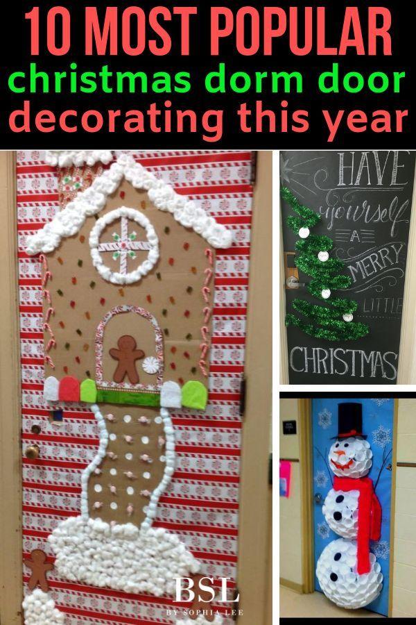 The Best Christmas Dorm Door Decorations To Copy This Year Christmas Dorm Christmas Dorm Decorations Dorm Room Christmas Decorations