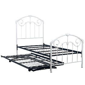 White Rod Iron Trundle Bed For Kate S Room