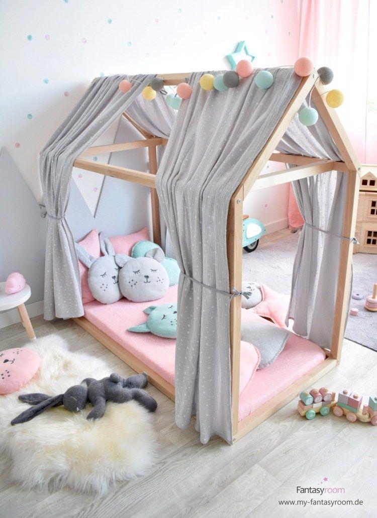 Hausbett für Kinder 3 tolle Dekoideen Hausbett