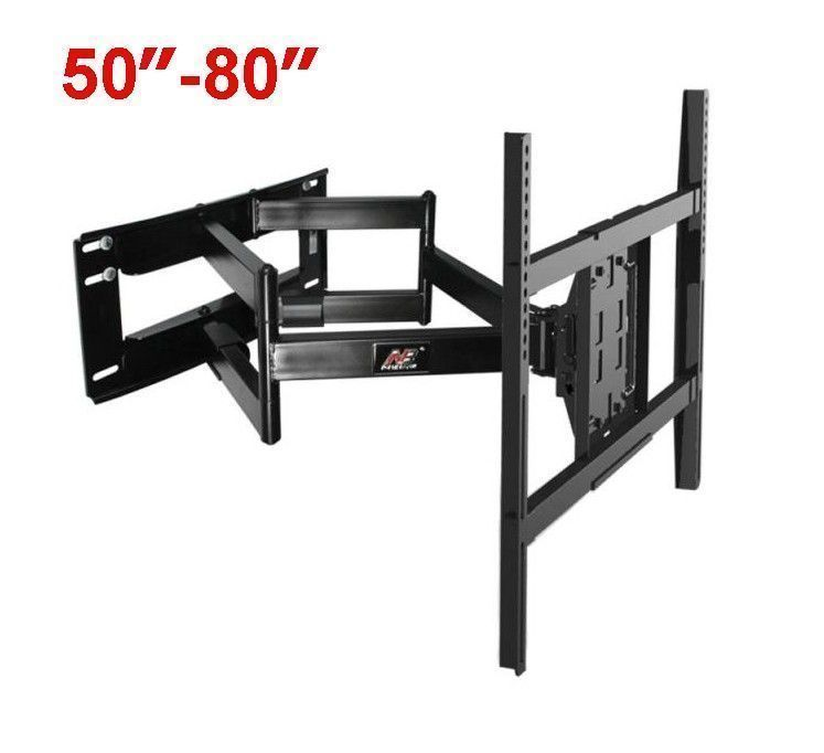 Click To Buy Nb Sp5 50 80 Flat Panel Led Lcd Tv Wall Mount Full Motion Heavy Duty Monitor Holder 6 Swing Ar Tv Wall Wall Mounted Tv Living Room Tv Wall