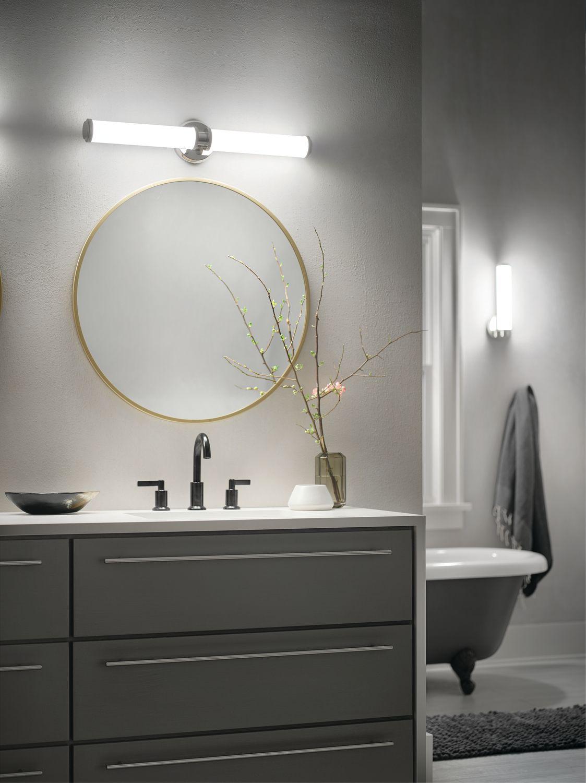 Indeco Linear Bath Inch LED In Polished Nickel Indoor LED - Linear bathroom lighting
