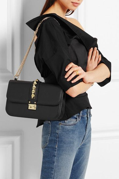 524b412ccb Valentino   Lock medium leather shoulder bag   Outfit Valentino is  definitely having a moment! Love this outfit featuring the Lock / Rockstud  bag!