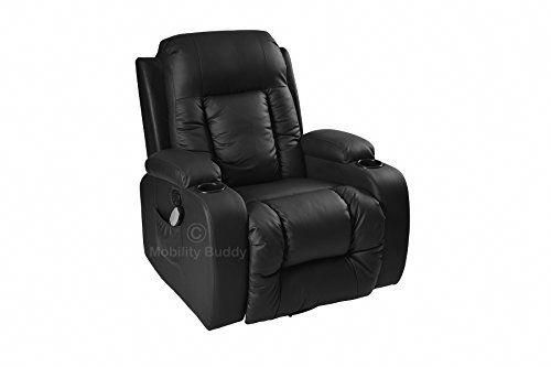 Pleasing Lc7027 Real Bonded Leather Cinema Black Massage Rocking Machost Co Dining Chair Design Ideas Machostcouk