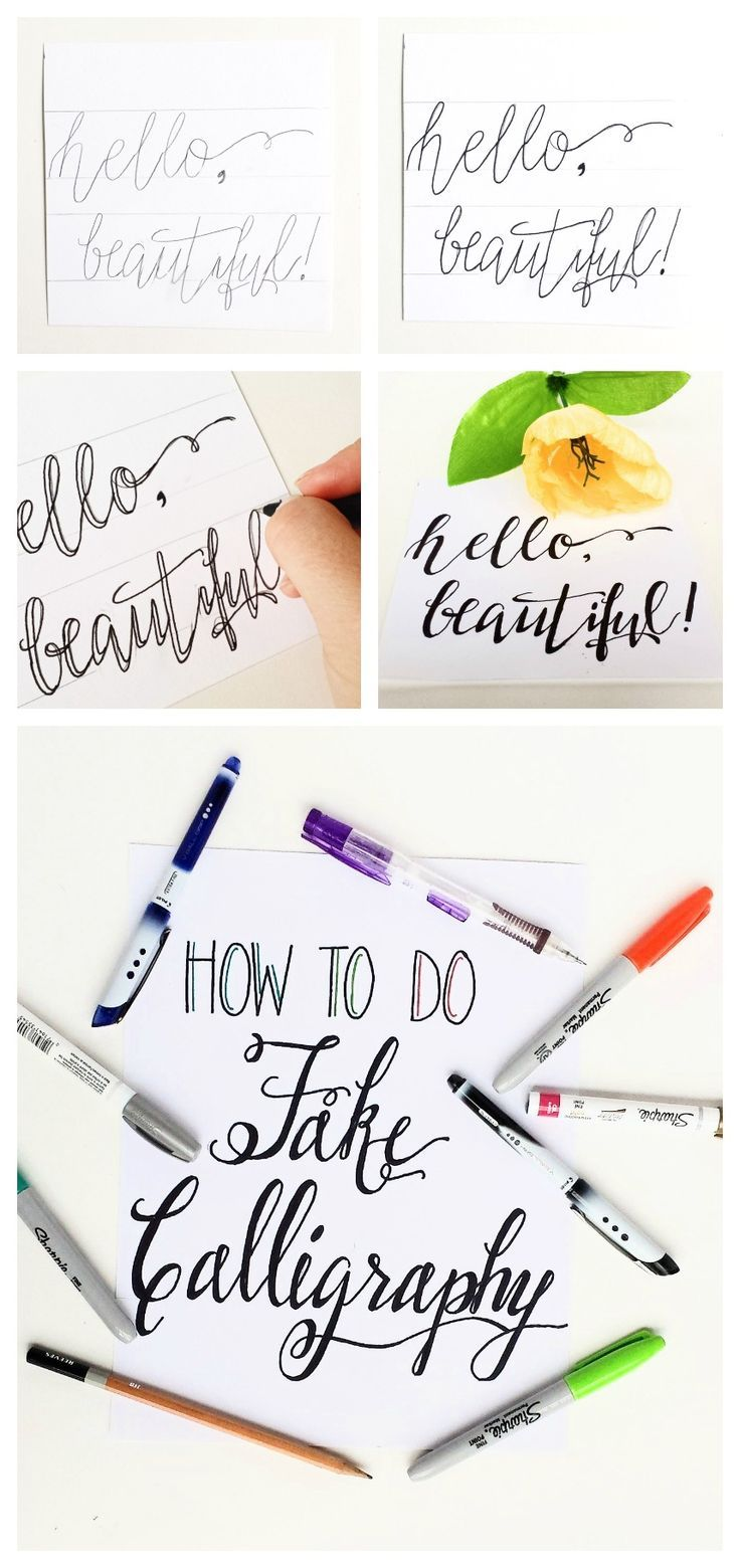 How to Do Fake Calligraphy - tutorial by Destination Decoration