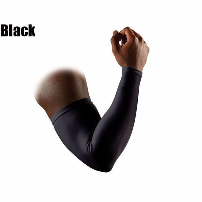 2017 Hot Sell Running Man Sports Arm Sleeve Cycling Compression Arm Warmers Elbow Protector Pads Support For Men Men's Accessories Men's Arm Warmers