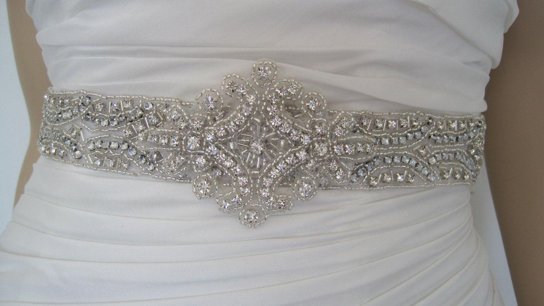 Rhinestone wedding dresses  Crystal Wedding dress belt sash belt rhinestone bridal sash belt