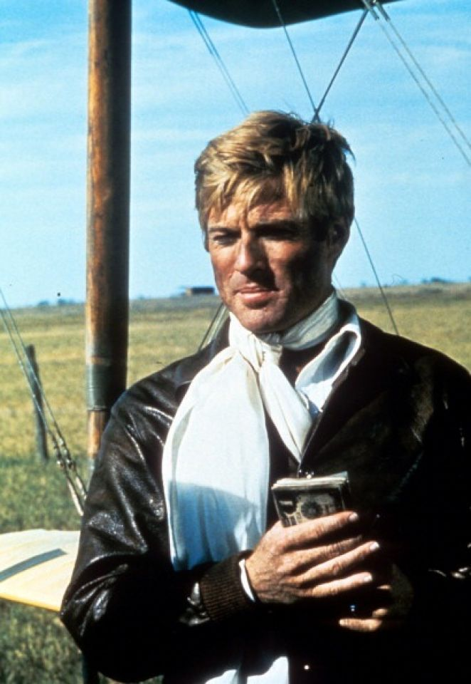 Robert Redford holds a box in a scene from the film 'The Great Waldo Pepper', 1975. (Photo by Universal/Getty Images)