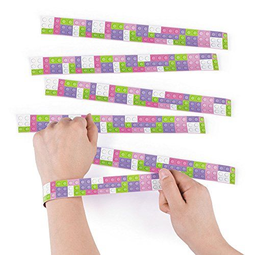 Pastel Color Brick Slap Bracelets - 12 pc ** Find out more about the great product at the image link.(It is Amazon affiliate link) #fun