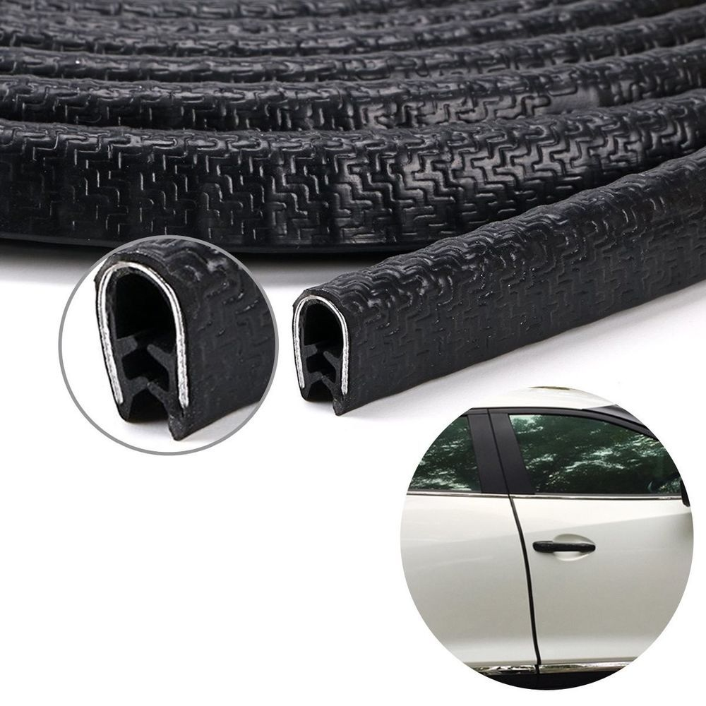 Car Door Edge Guard Trim Black Rubber Seal Protector 13ft Fit For Most Car Keepingfun Black Rubber Car Car Accessories