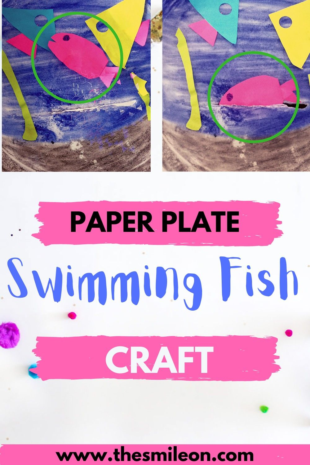 Photo of Paper Plate Swimming Fish Ocean Craft for Kids