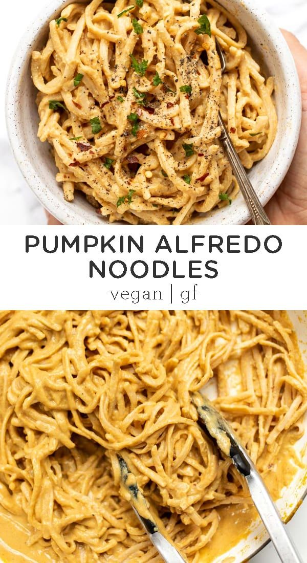 Vegan Pumpkin Alfredo Noodles Recipe Vegan Comfort Food Pasta