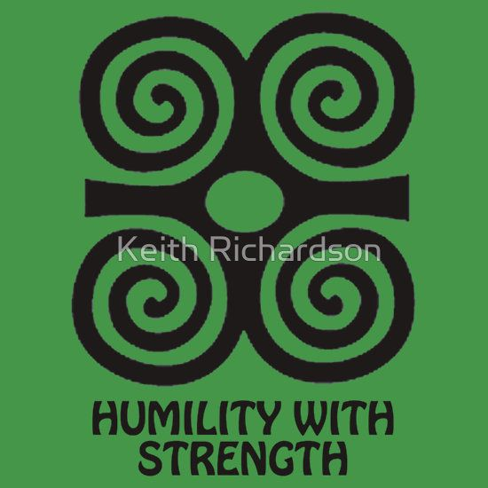 T Shirt Adinkra Symbol Humility With Strength Sticker By Keith