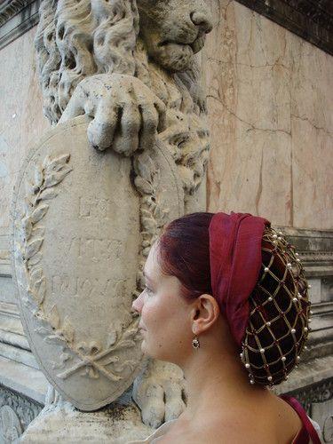 Renaissance Snood Tutorial - a snood is a the distinctive ...