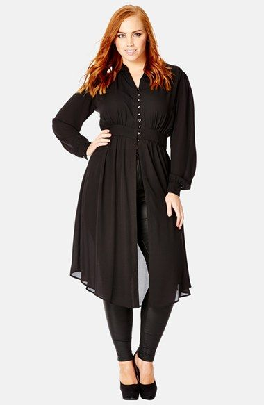 City Chic 'Mistress' Tunic Shirt (Plus Size) available at #Nordstrom