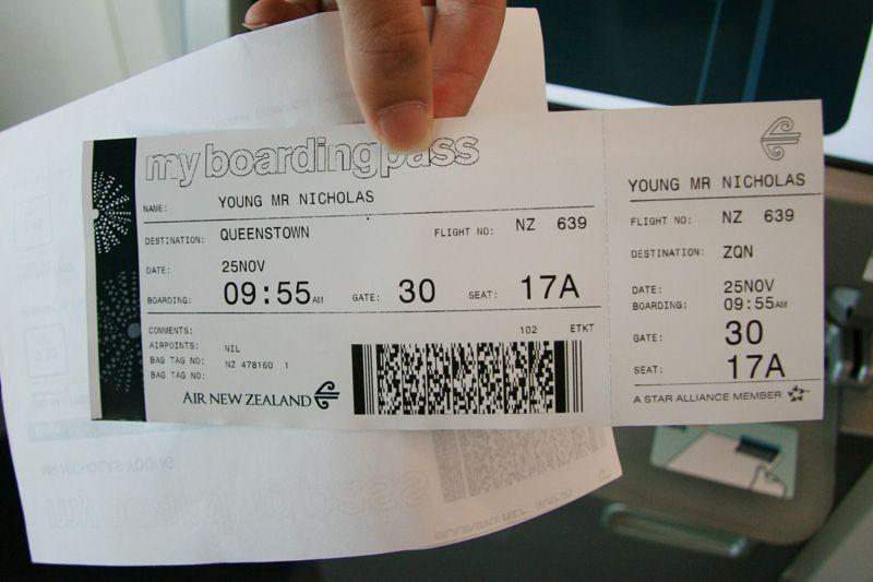 Air New Zealand Boarding Pass Aviation Forum Boarding Pass Template Surprise Vacation