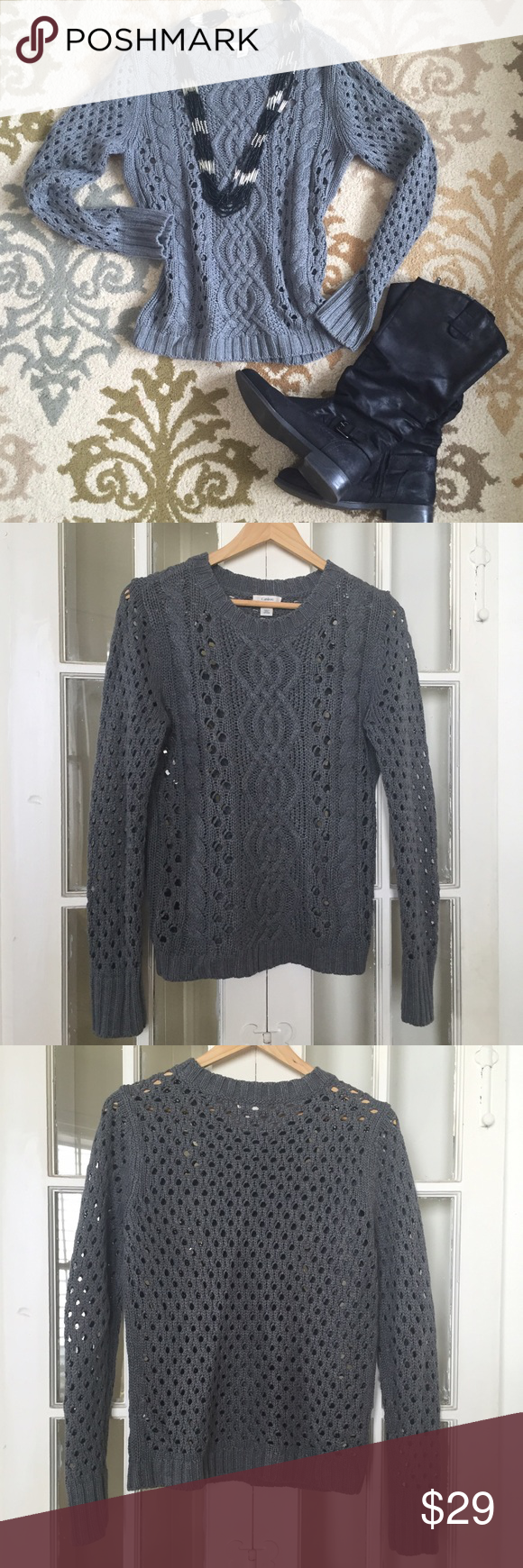 Fall Knit Sweater Pretty gray cable knit sweater from Nordstrom ...