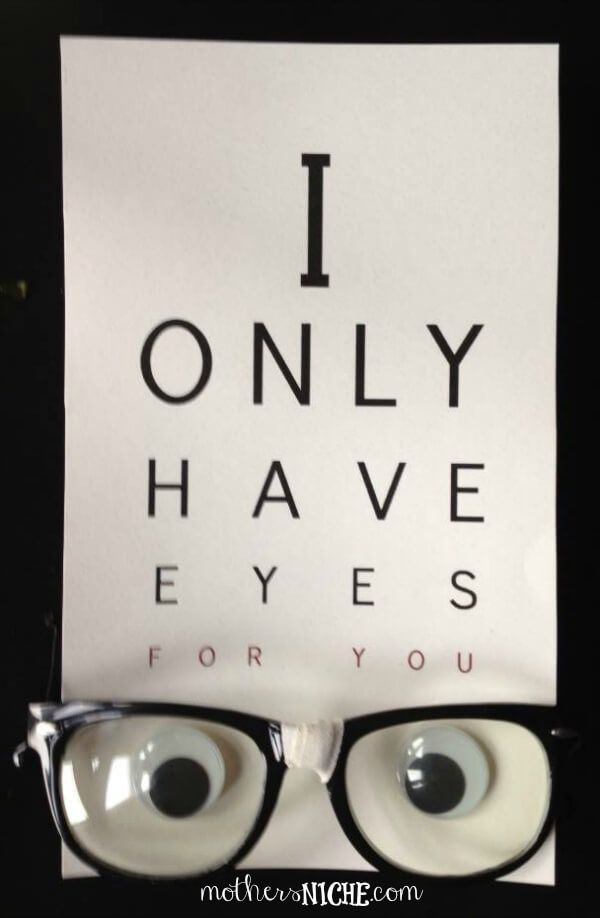 Olhos para voce creative gifts pinterest gift boyfriends and i only have eyes for you homemade printable solutioingenieria Gallery