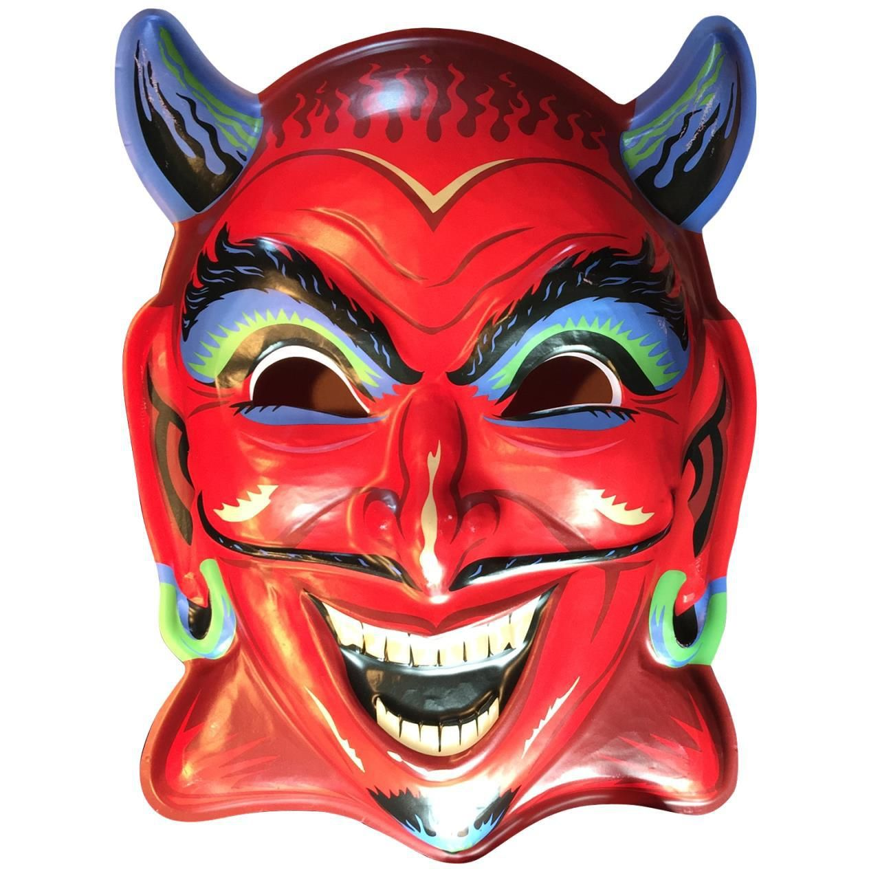 Fun-House Devil Vac-tastic Plastic Mask | Plastic mask, Fun house ...