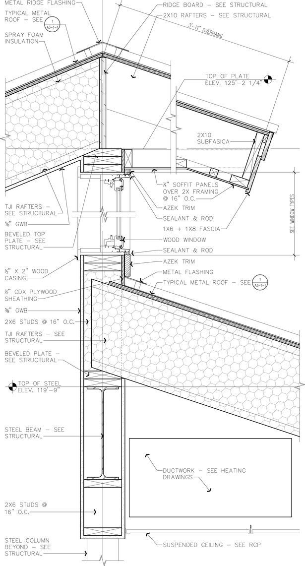 Public Library Archworks Pc Caitlin Daly Archinect Roof Detail Roof Architecture Construction Drawings