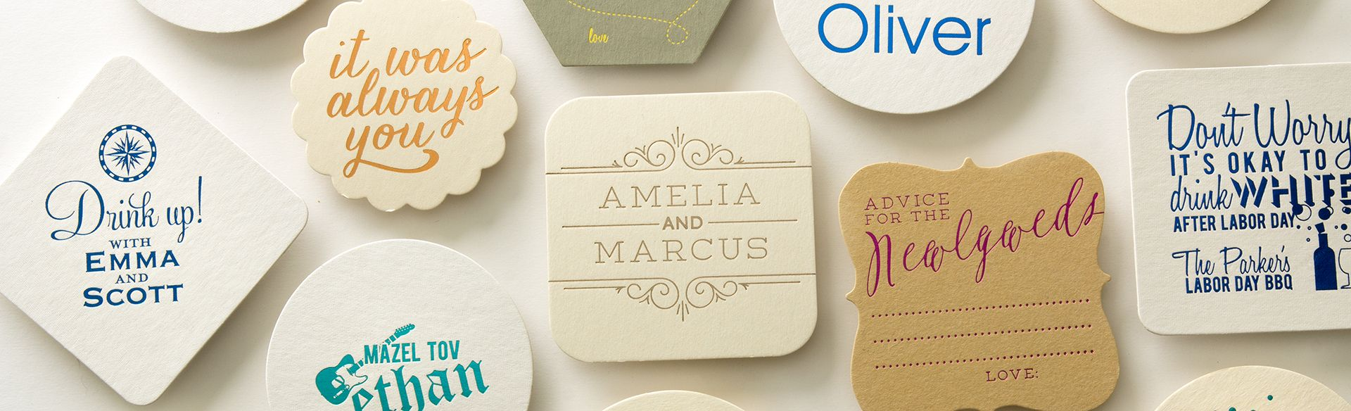 Custom Coasters | Save the Date & Wedding Coaster Favors ...