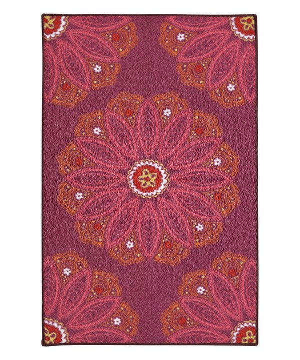 look at this purple lacee rug on zulily today purple area rugs floral rug mohawk home on boho chic kitchen rugs id=42556