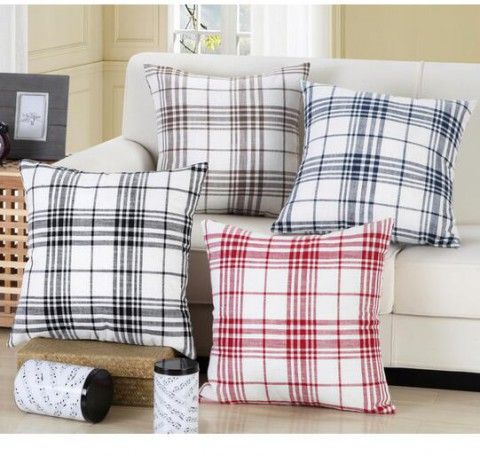 Abstract Plaid Throw Pillow For Contemporary Minimalist Home Decor Line Sofa  Cushions