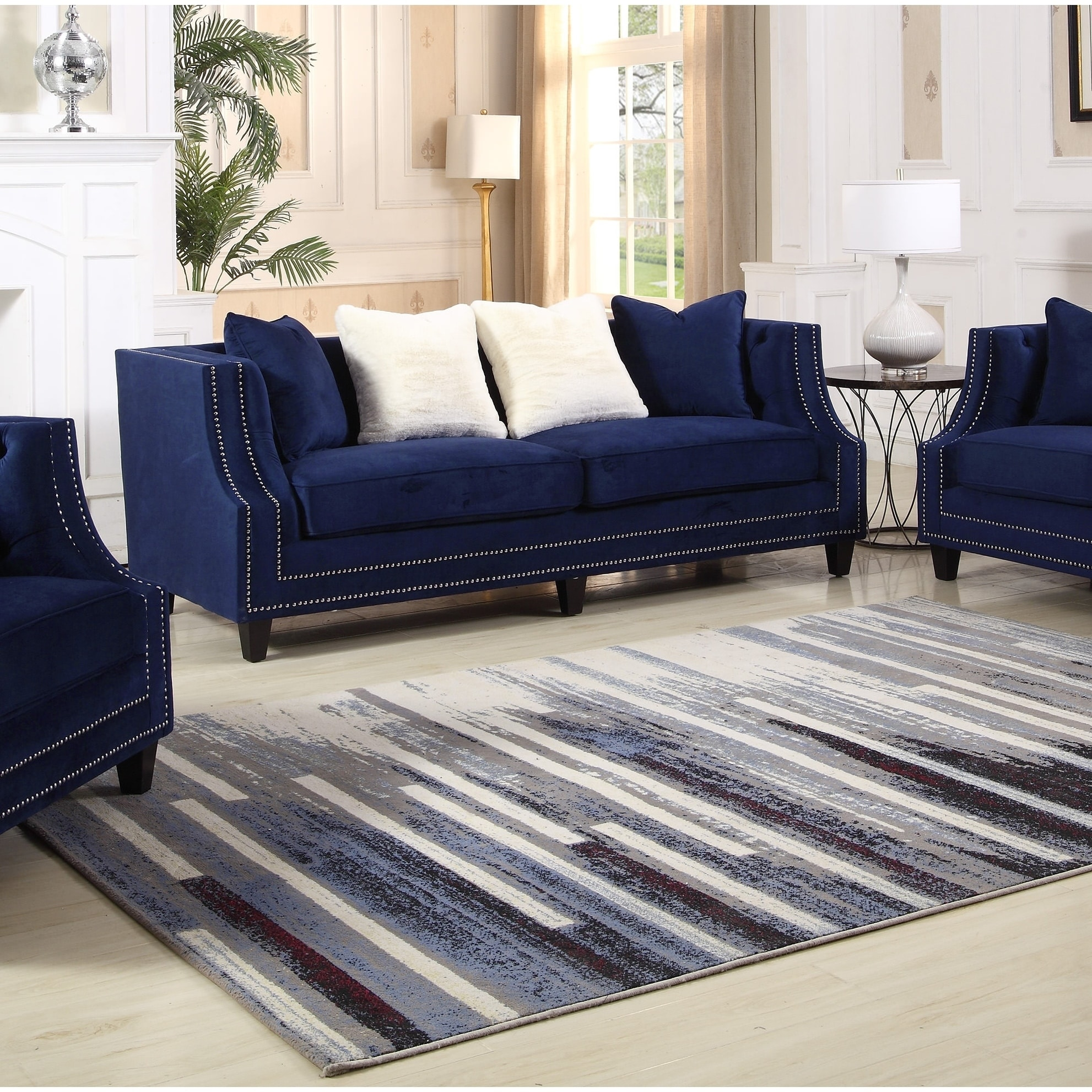 Elegant Best Master Furniture Hampstead Sofa (Blue) Furniture Outlet, Bed Furniture,  Online Furniture
